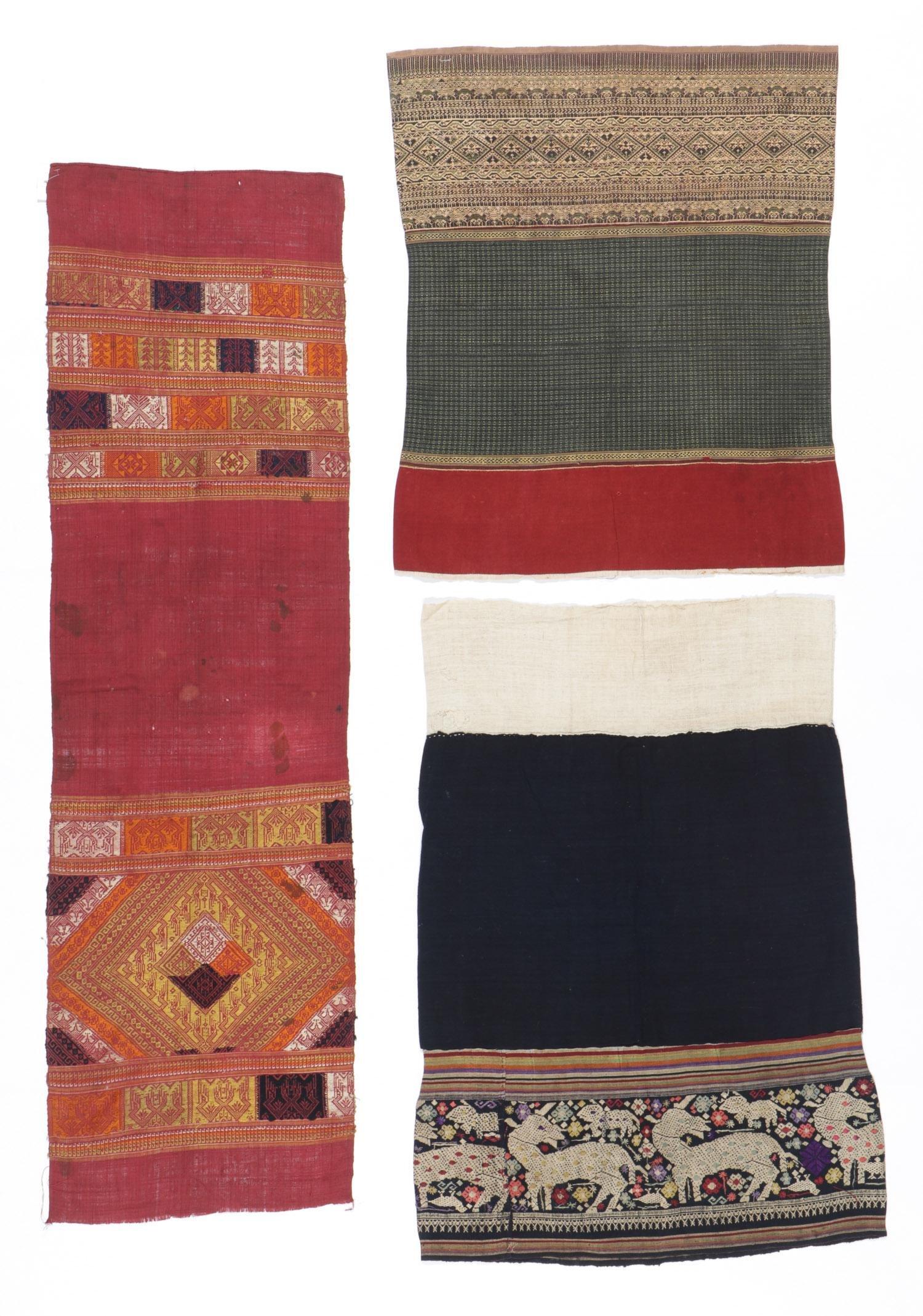 3 Antique Southeast Asian Woven Textiles