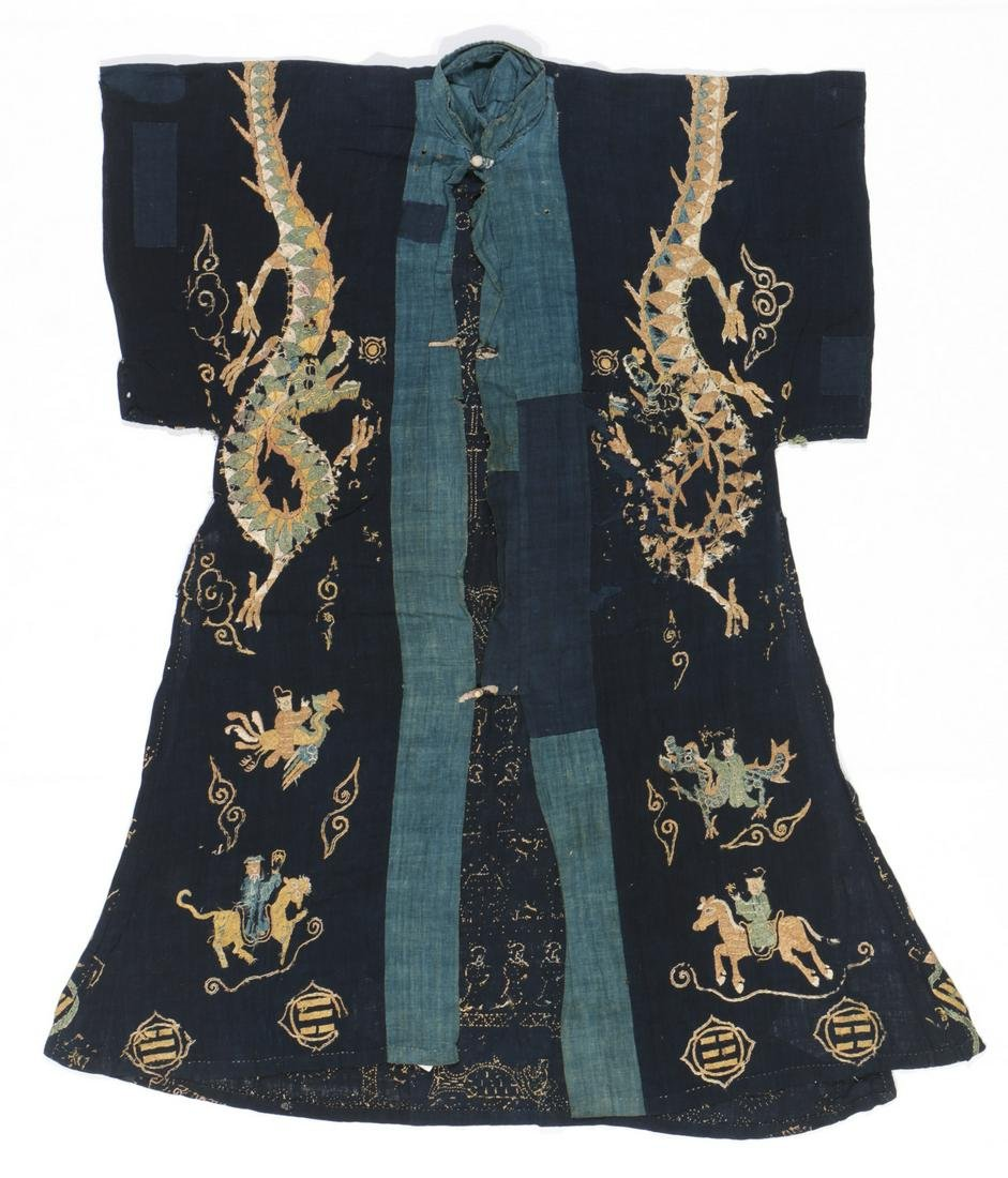 Antique Yao Shaman's Silk Embroidered Robe