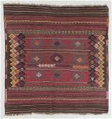 Semi-Antique Veramin Sofreh Kilim, Persia: 4'7'' x