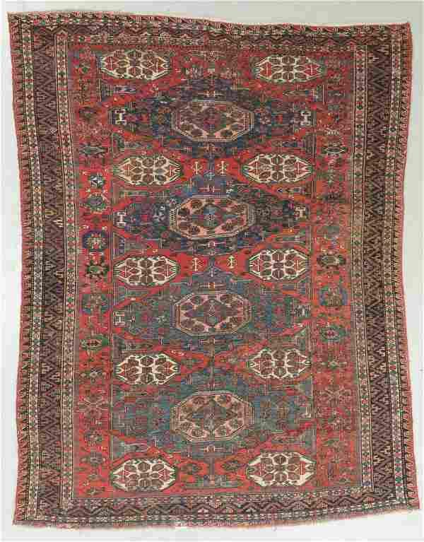 Antique Sumak Rug, Caucasus: 7'3'' x 9'11''