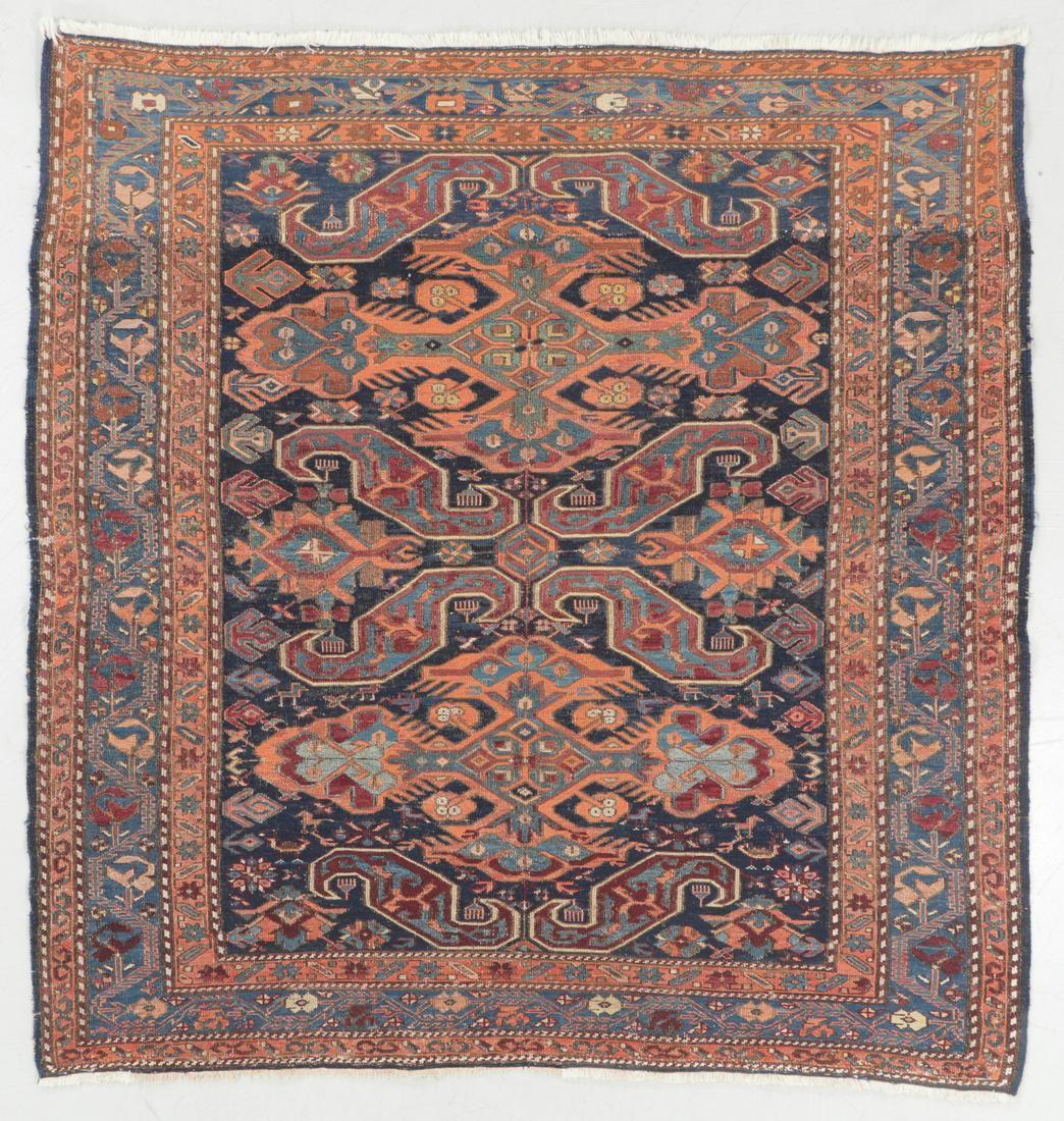 Antique Sumak Rug, Caucasus: 5'3'' x 5'5''