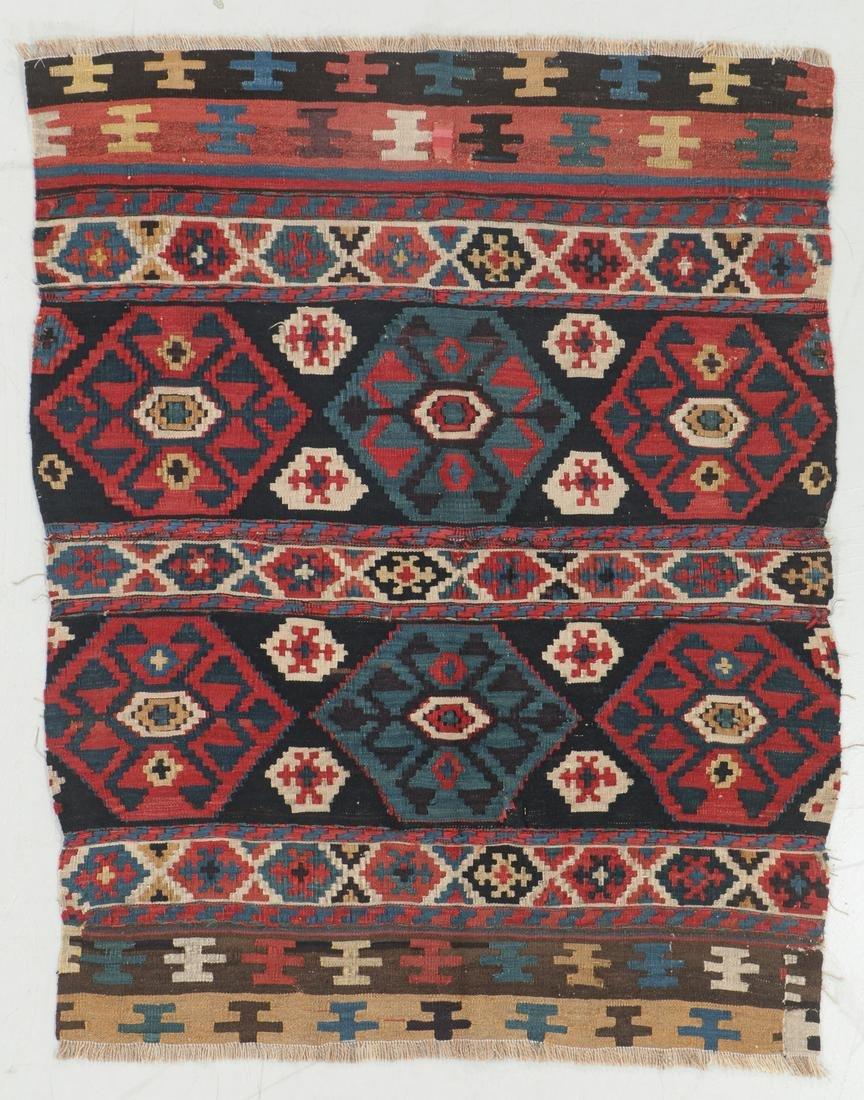 Antique Shahsavan Kilim, Persia: 3'6'' x 4'3''