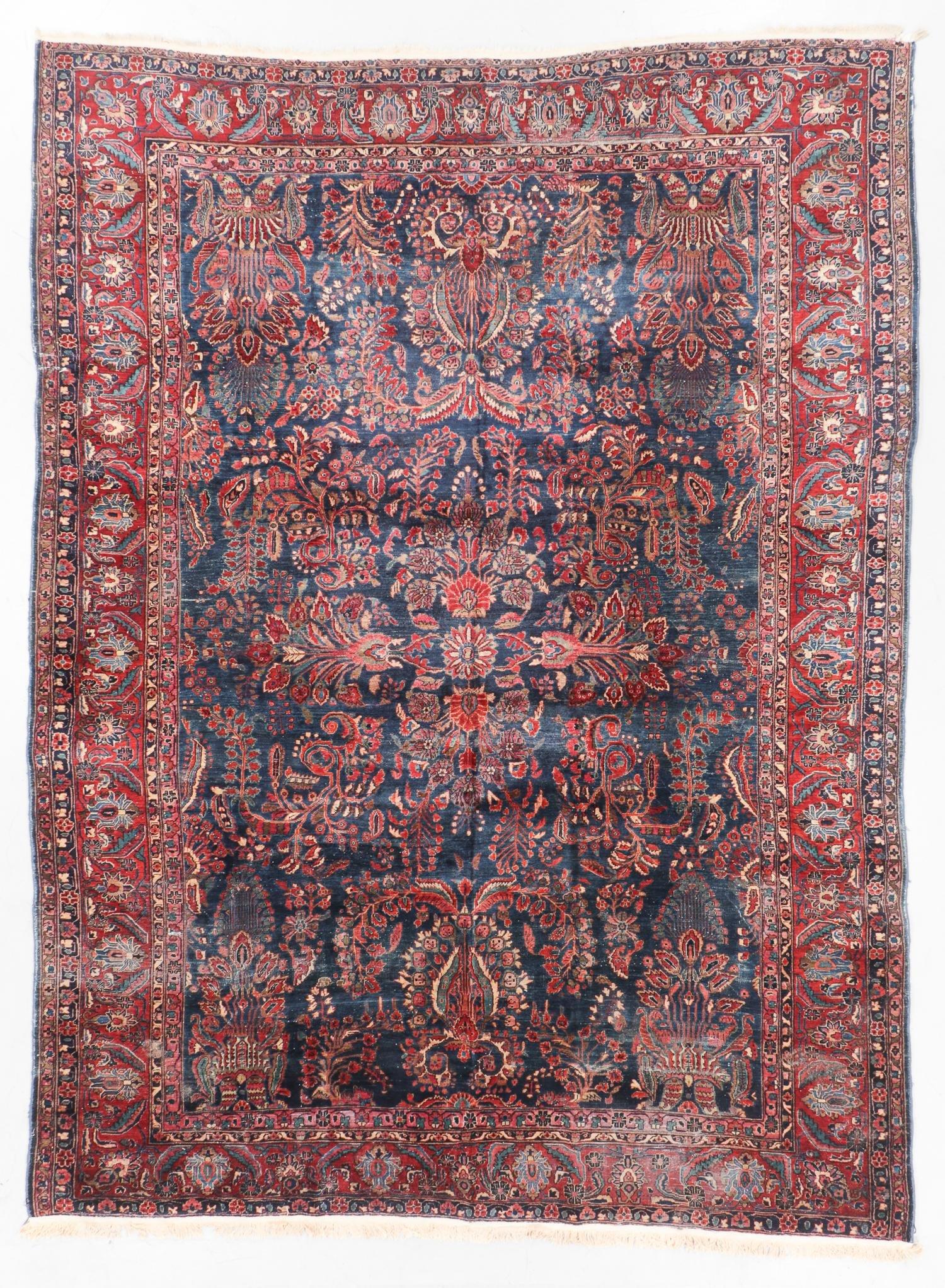 Antique Sarouk Rug, Persia: 8'9'' x 11'9''