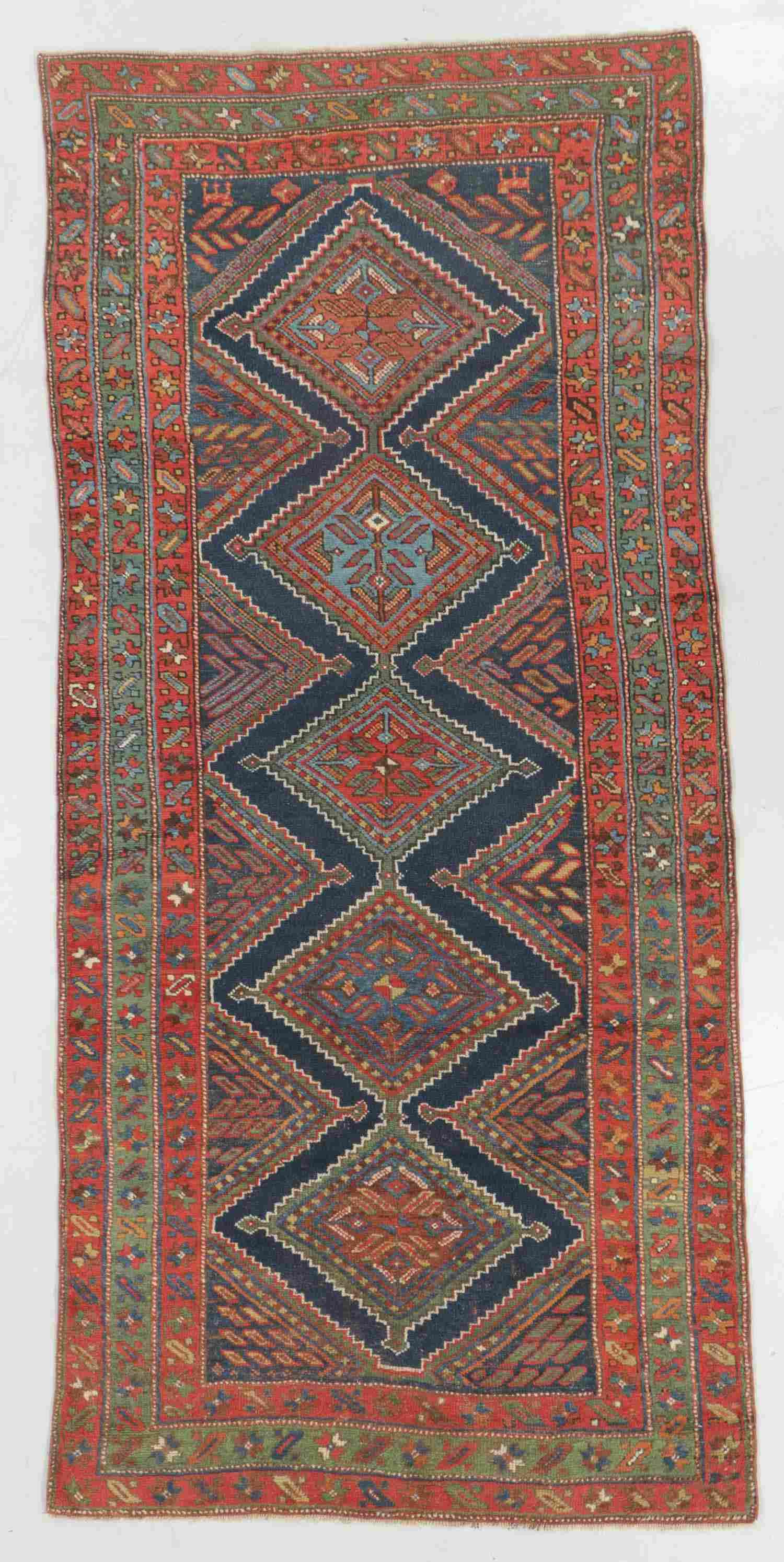 Antique Kurd Rug, Persia: 4'5'' x 9'7''