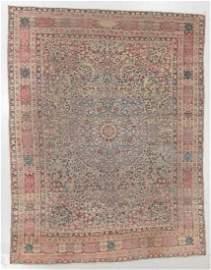 Antique Kerman Rug, Persia, Multiple Inscriptions: