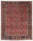 Antique Mahal Rug, Persia: 9'1'' x 11'3''