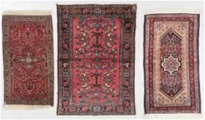 3 Antique Sarouk & Hamadan Rugs, Persia