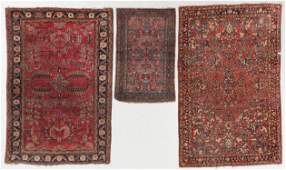3 Antique Sarouk and Hamadan Rugs