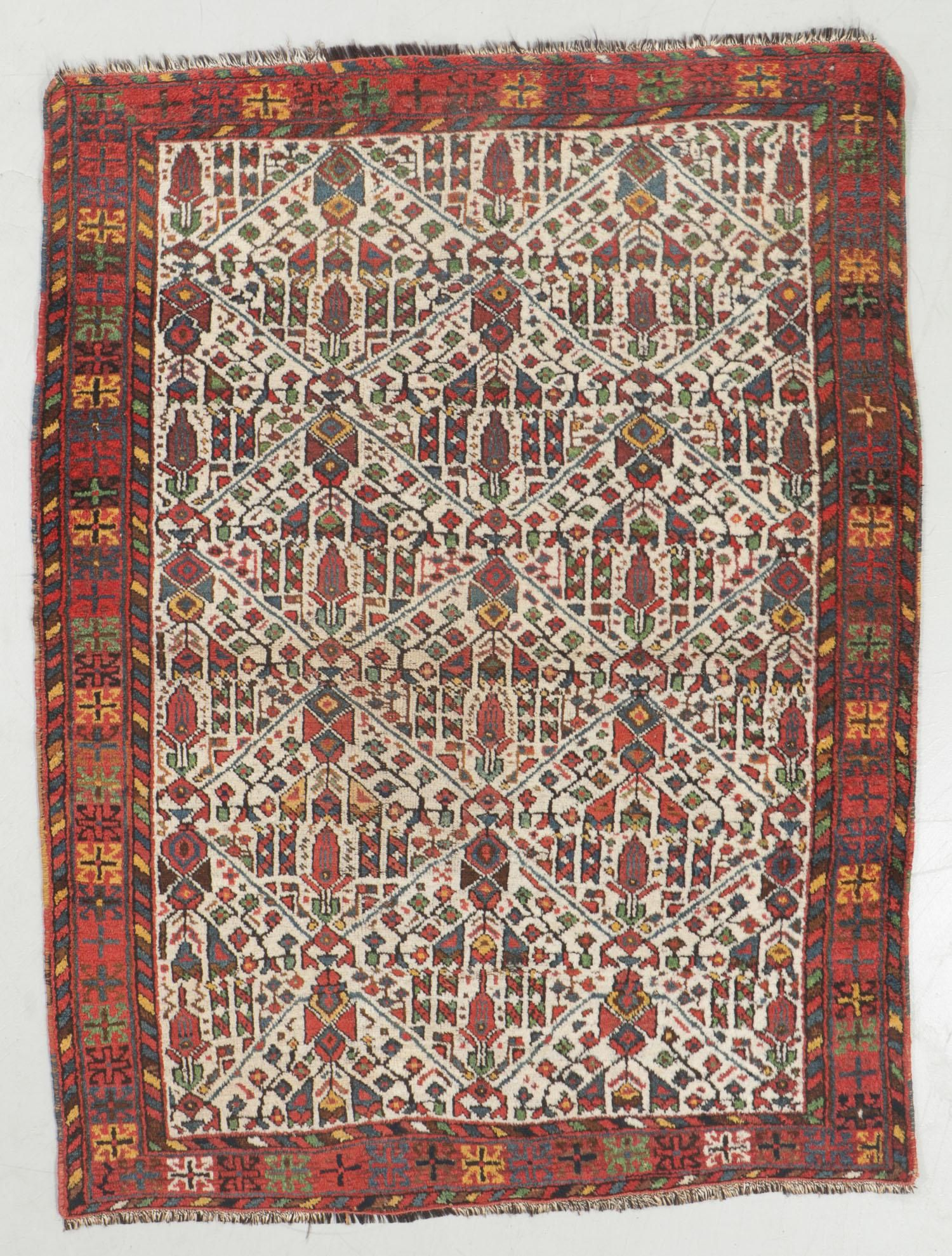 Antique Afshar Rug, Persia: 3'11'' x 5'2''