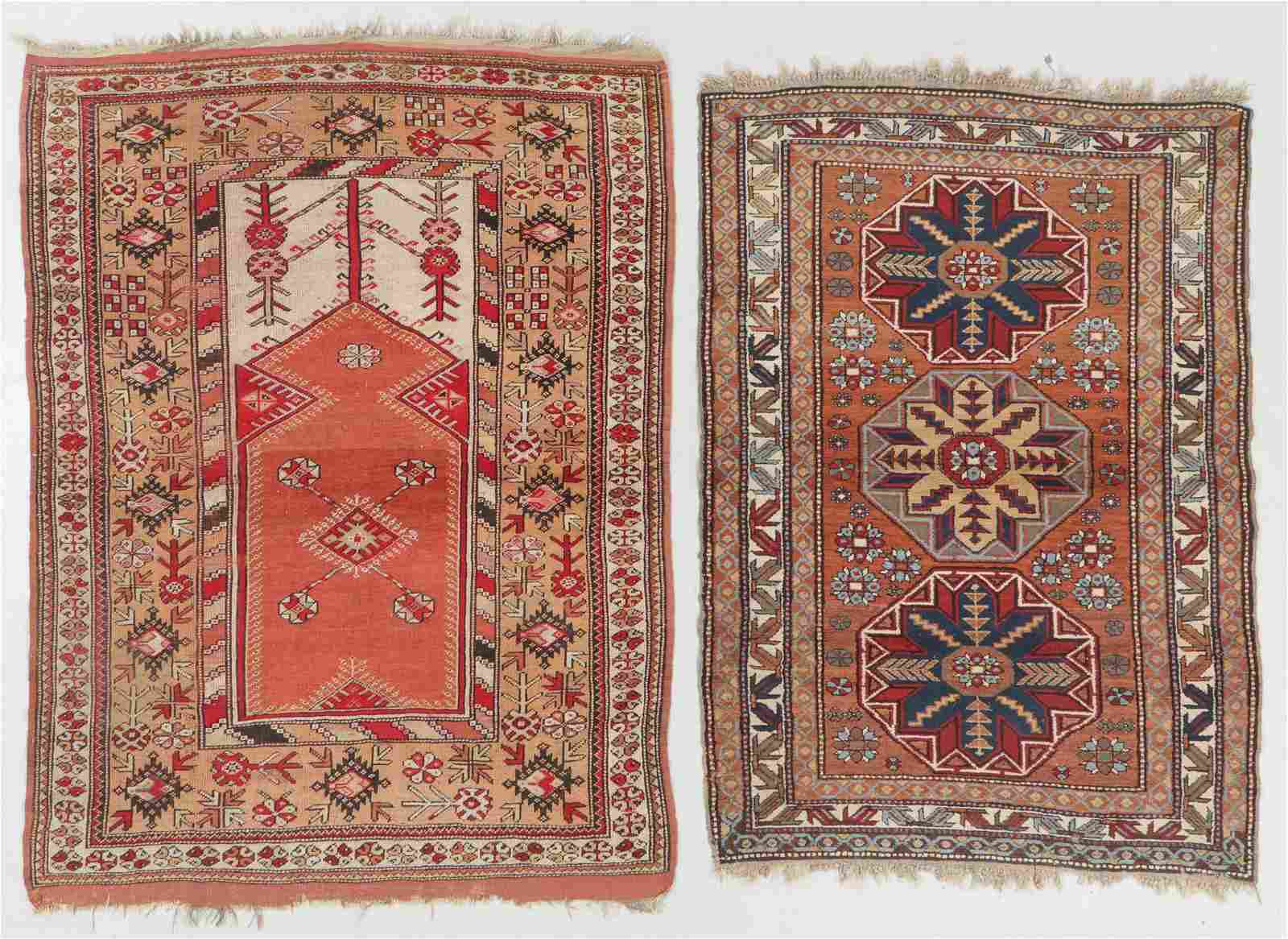 2 Semi-Antique Turkish and Caucasian Rugs