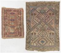 2 Antique Caucasian Sumak Rugs