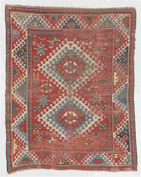 Antique Kazak Rug, Caucasus: 5'10'' x 7'2''