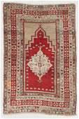 Antique Central Anatolian Prayer Rug, Turkey: 3'7'' x