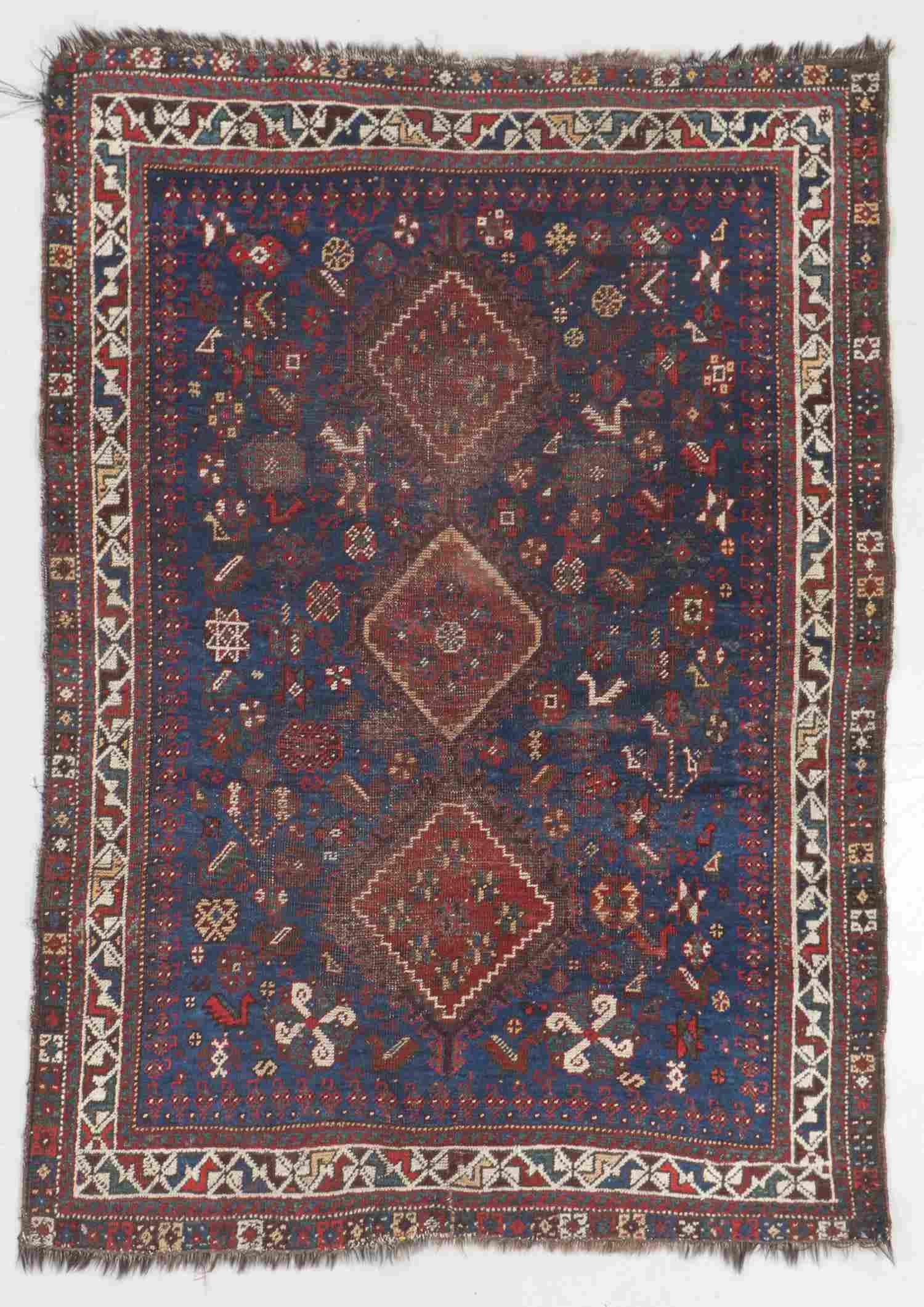 Antique Afshar Rug, Persia: 3'10'' x 5'3''