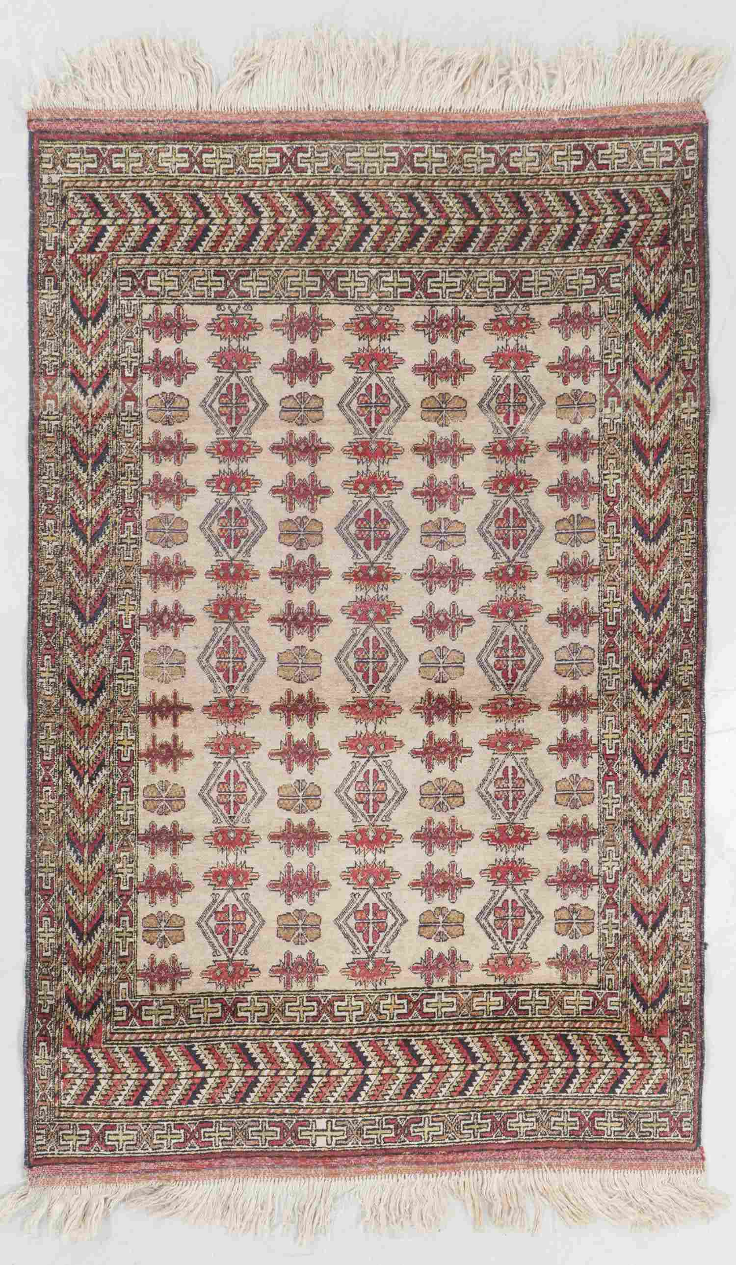 Vintage Central Asian Rug, Turkmenistan: 3'11'' x 6'1''