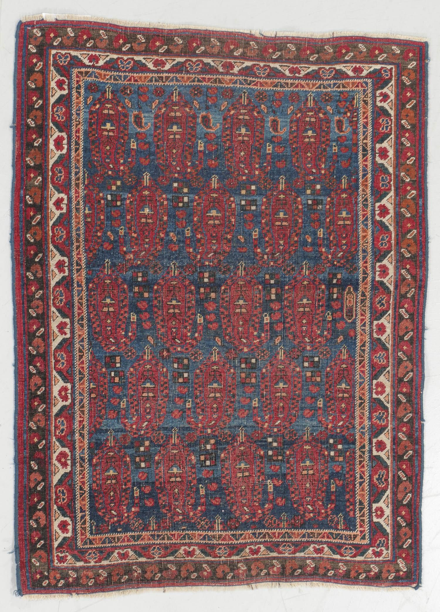 Antique Afshar Rug, Persia: 3' x 4'2''
