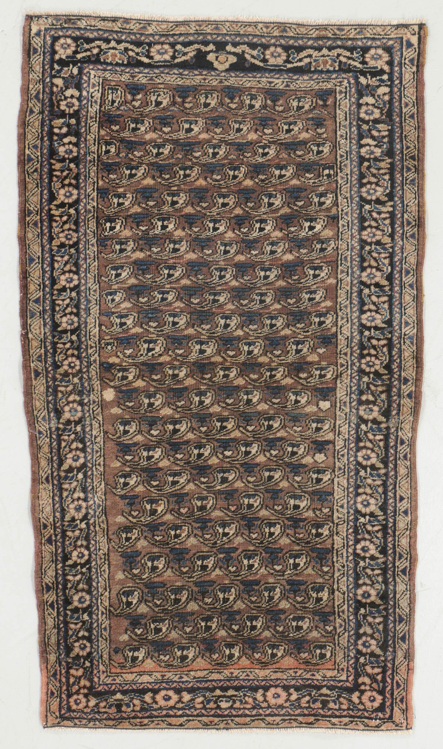 Antique Boteh Pattern Rug, Persia: 2'5'' x 4'3''