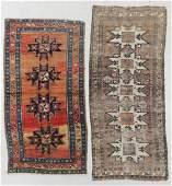 2 Antique Caucasian Lesghi Rugs
