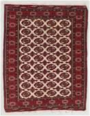 Vintage Bokhara Rug, Pakistan: 4'8'' x 5'9''