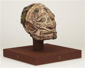 Exceptional PNG Sepik River Skull Portrait