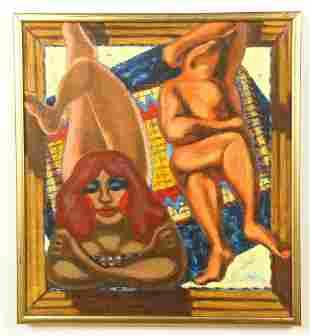 "Jack Gerber (American, b. 1927) ""Sunning"""