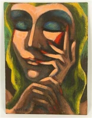 Jack Gerber American b 1927 Oil Painting