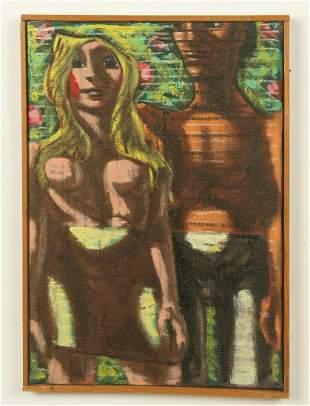 "Jack Gerber (American, b. 1927) ""Adam and Eve"""
