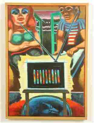Jack Gerber (American, b. 1927) Painting