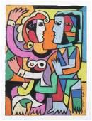 George Colin (American, 1929-2014) Pastel
