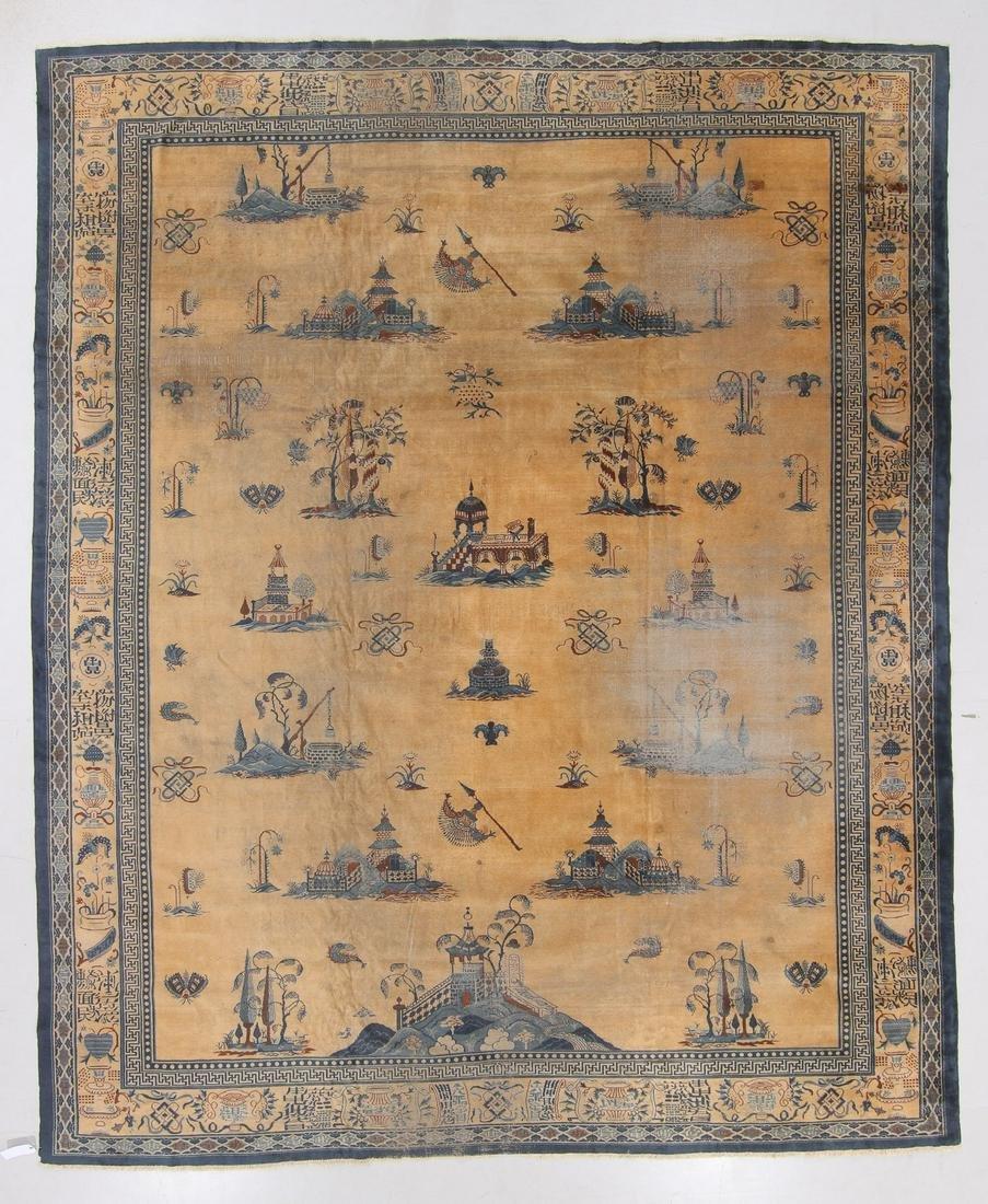 Antique Indo-Chinese Rug, India: 11'11'' x 14'4''