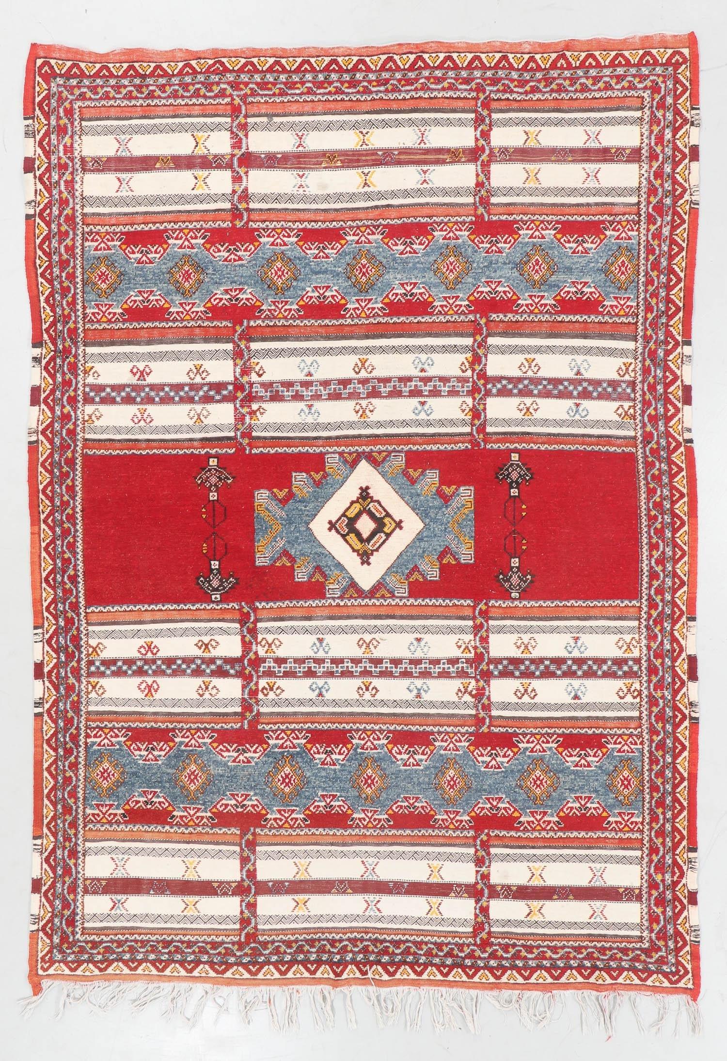 Semi-Antique Berber Rug, Morocco: 6'10'' x 9'7''