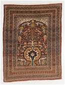 Antique Tabriz Prayer Rug Persia 45 x 511