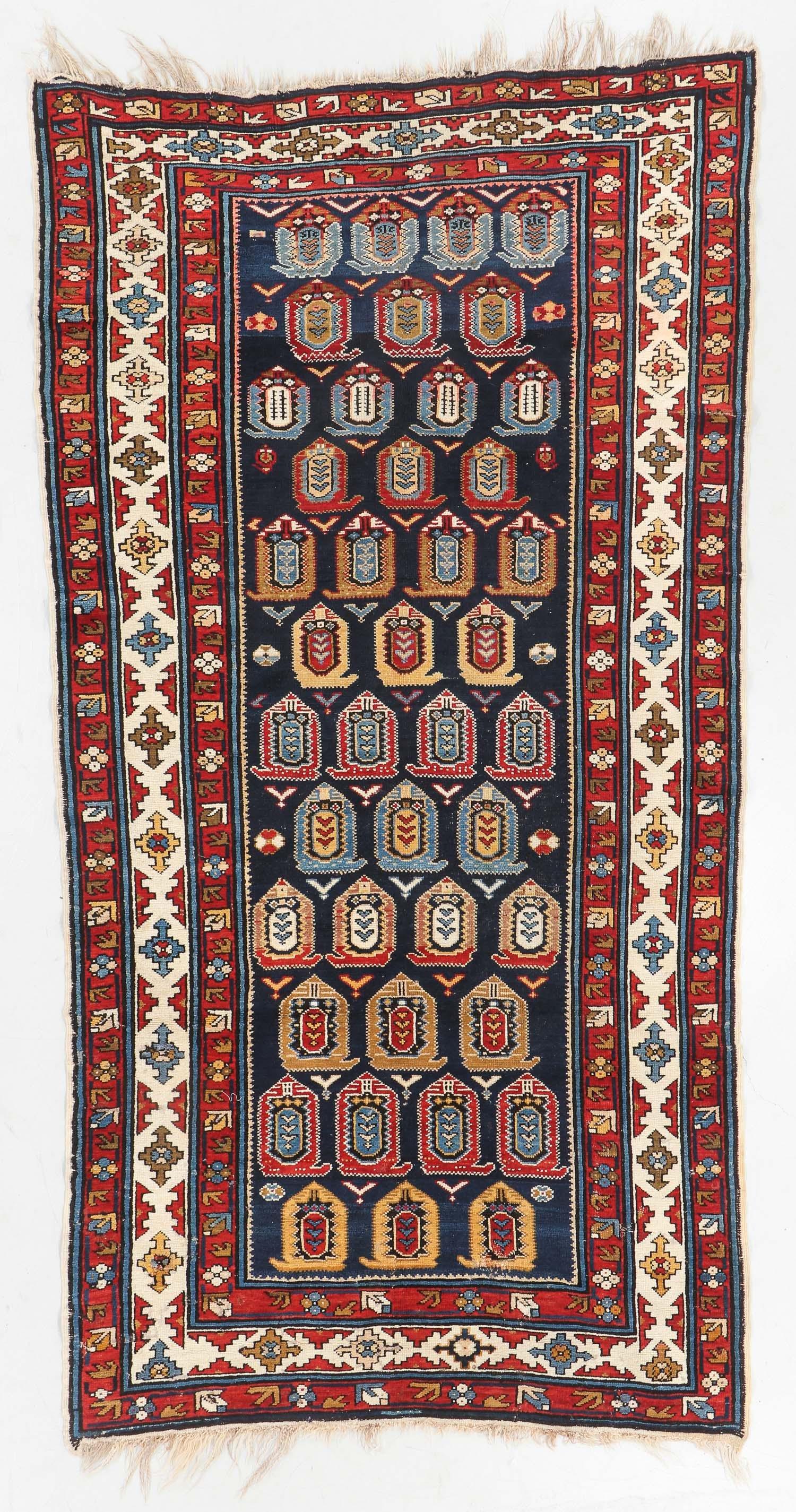 Antique Lenkoran Rug, Caucasus: 5'1'' x 9'8''