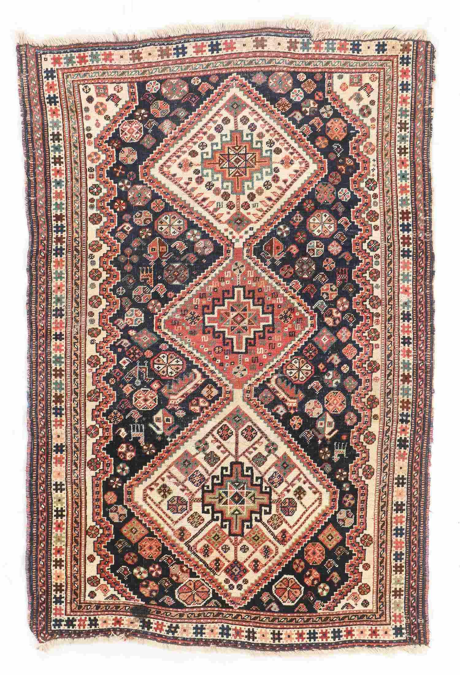 Antique Gashgai Rug, Persia: 3'10'' x 5'6''