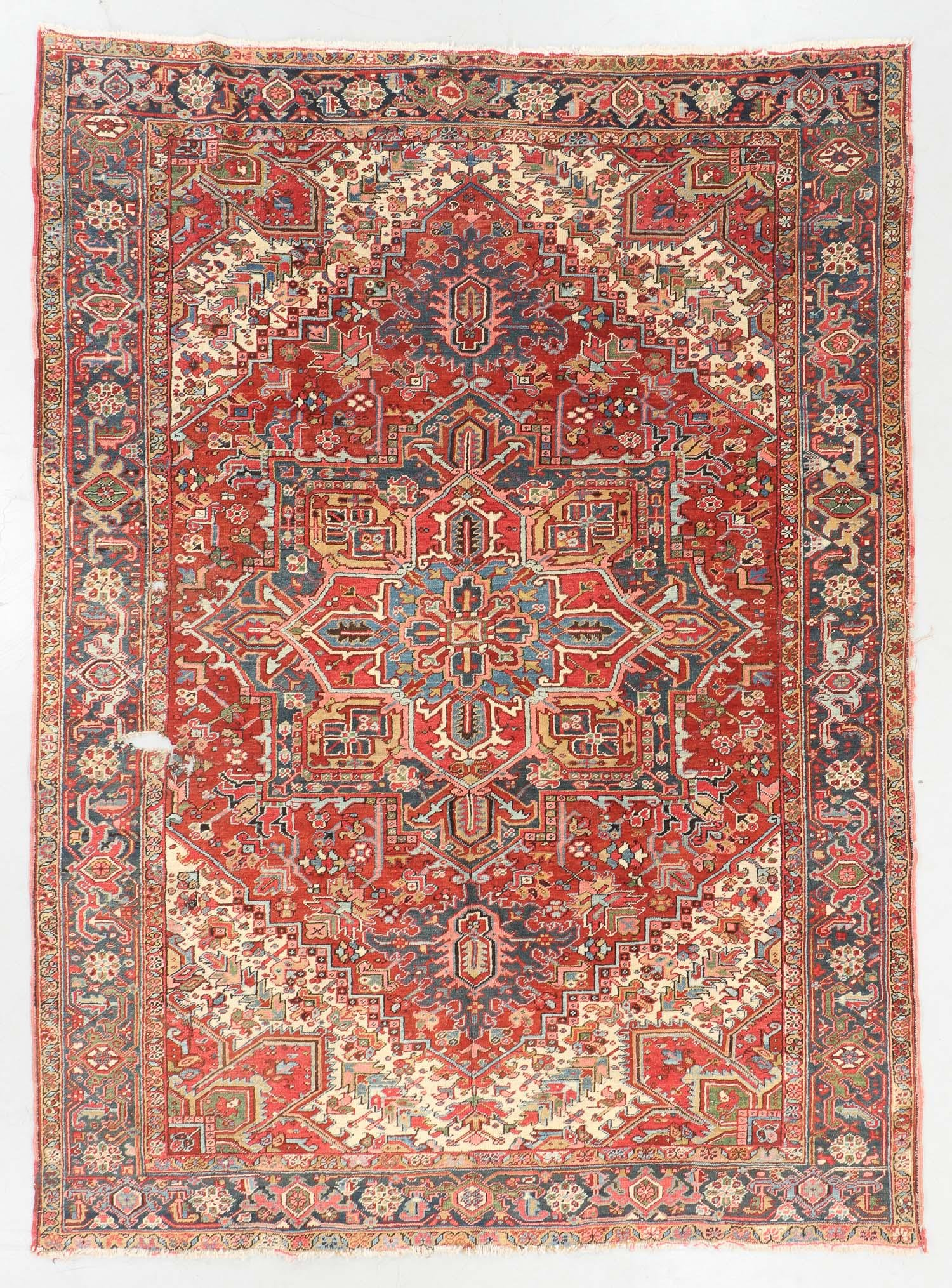 Antique Heriz Rug, Persia: 8'2'' x 10'9''