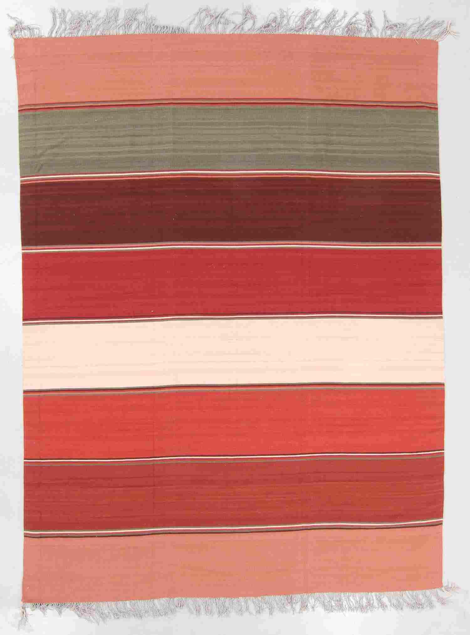 Modern Zapotec Wool Kilim, Mexico: 8'11'' x 11'10''