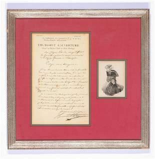 Toussaint Louverture Signed Manuscript Letter