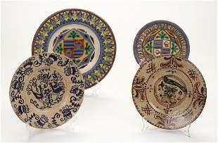 Antique Romanian Art Pottery Group