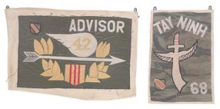 (2) Vietnam War Banner Flags