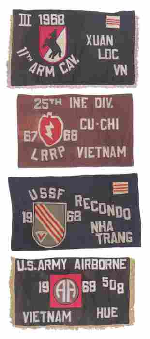 (4) 1968 Vietnam War Banner Flags