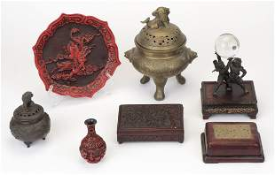 Group of Assorted Asian Decorations