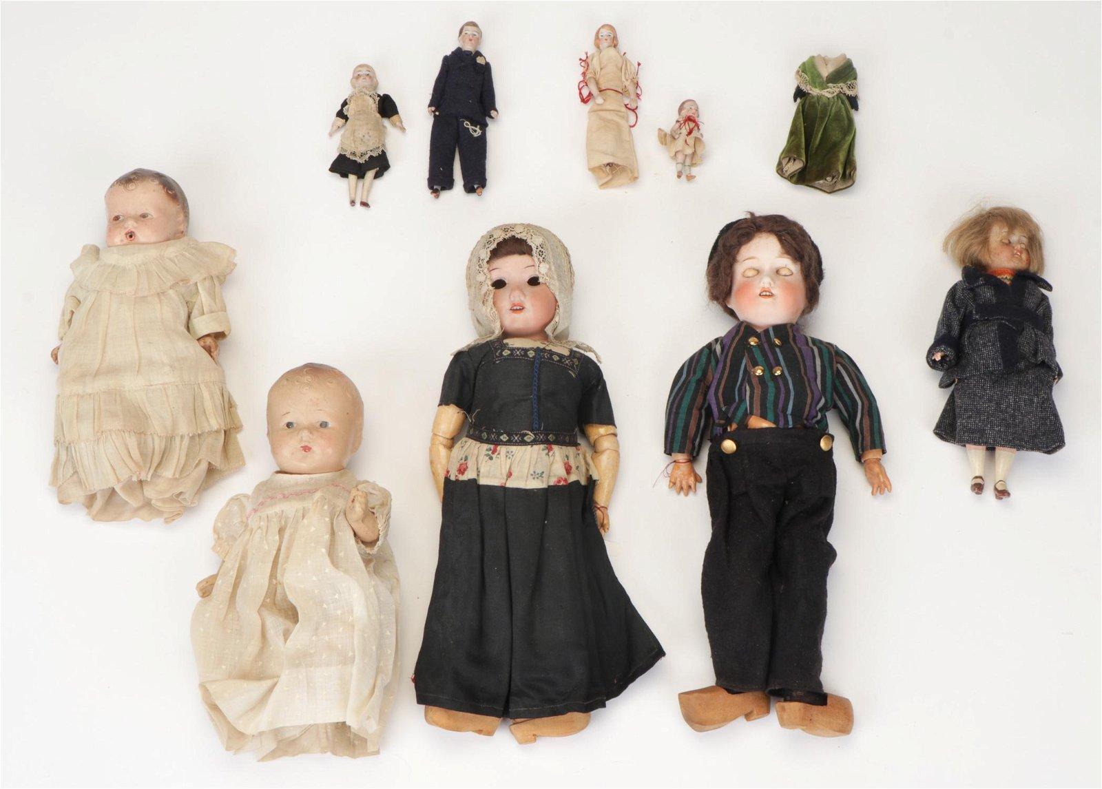 Group of  10 Vintage Dolls