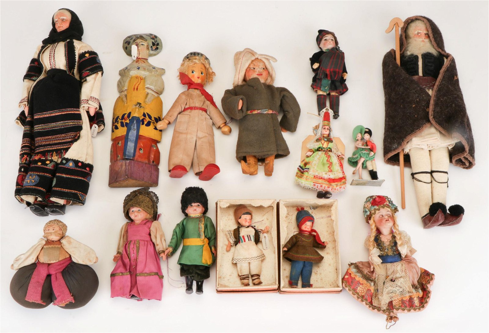 Group of Antique and Vintage Ethnic Dolls