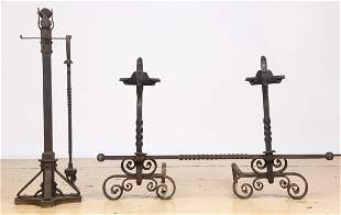 Handforged 5Piece Fireplace Set Early 20th Century