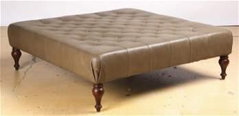 Oversized Leather Ottoman