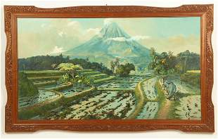 Madyosumanto 20th c Landscape painting