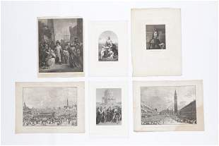 Group of 6 Antique Prints