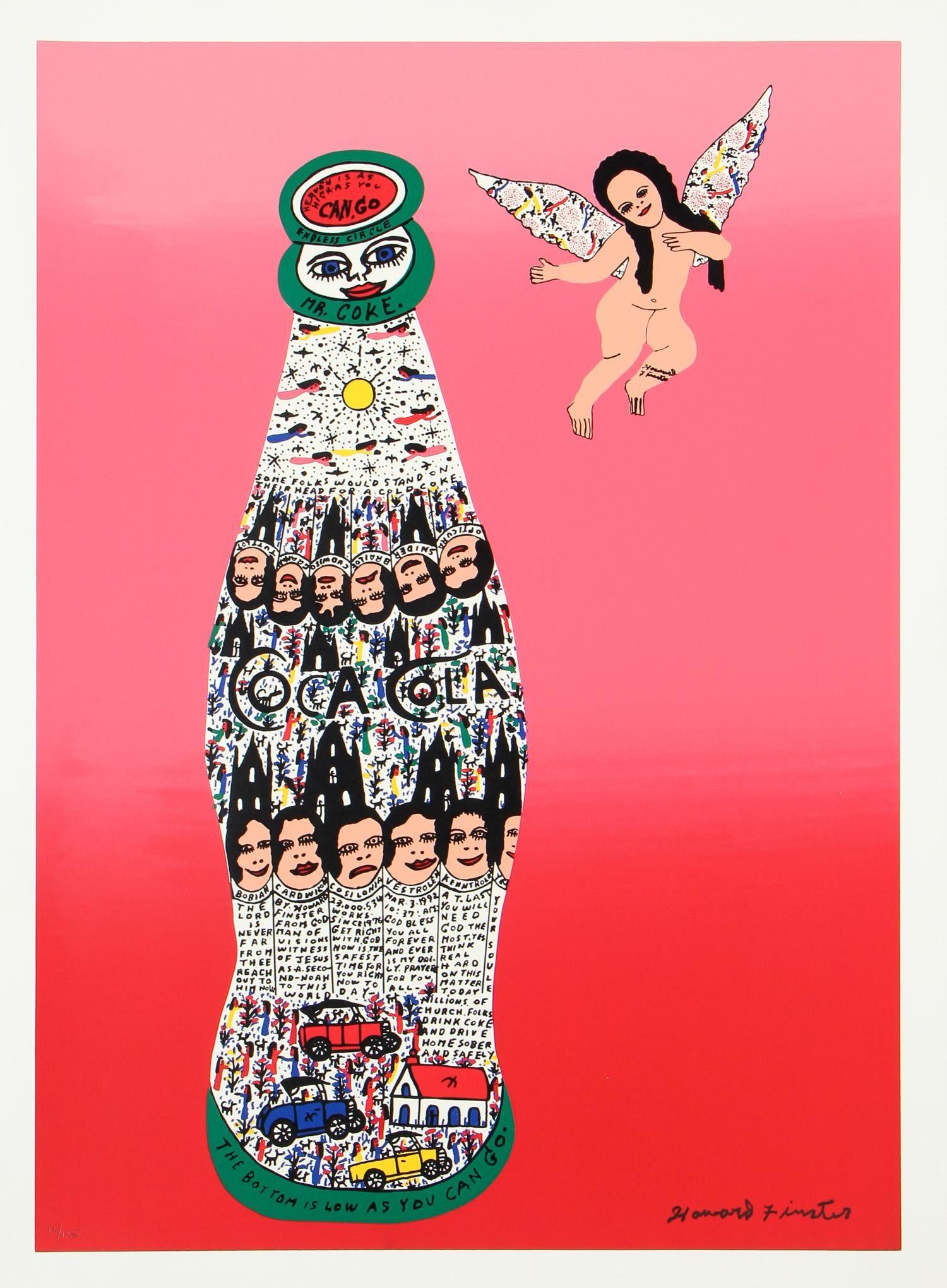Howard Finster (1916-2001) Angel with Coca Cola Bottle