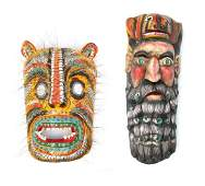 2 Large Mexican Festival Masks