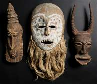 3 African Tribal Masks